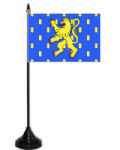 Franche-Comté Desk / Table Flag with plastic stand and base.